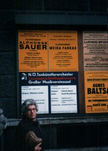 Plakat am Musikverein